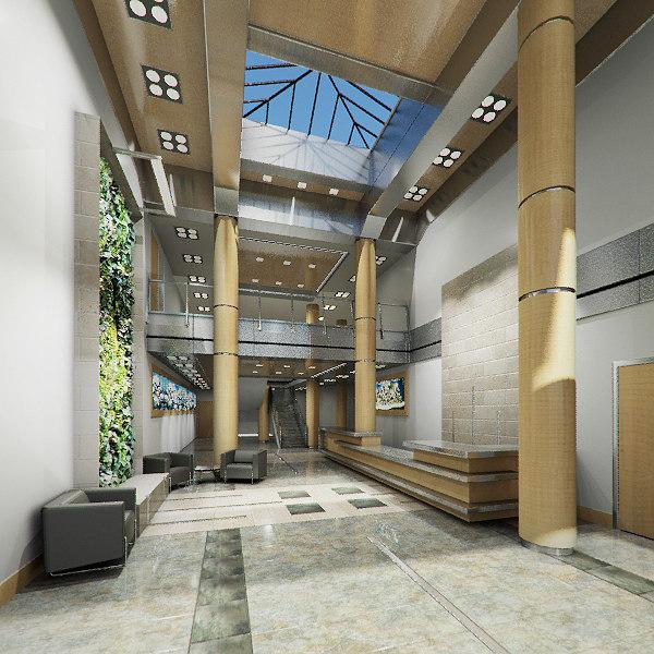 office lobby 3d max