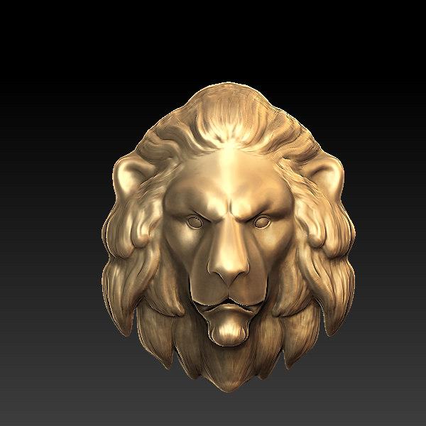 3ds max lion head sculpture