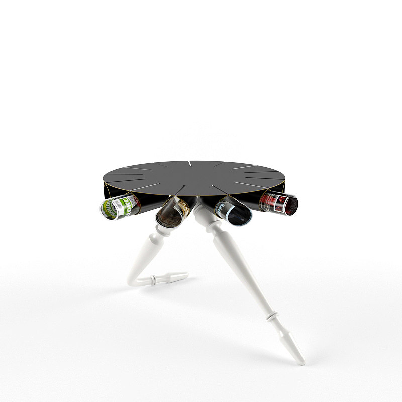 3d model giselle lounge table