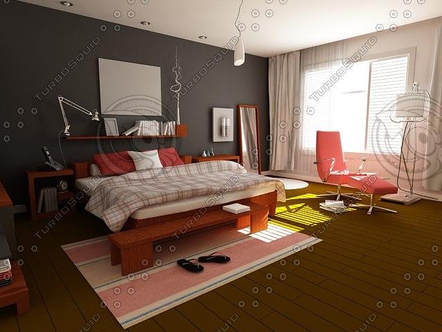 complete interior 3d model