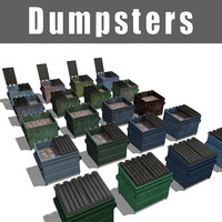 3d dumpsters contains