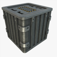 3ds max metal crate