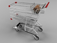 supermarket basket 3d model