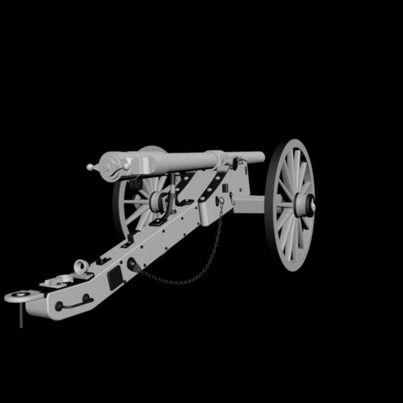 3d model of whitworth 12 pounder