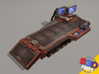 3d model sci-fi repair table