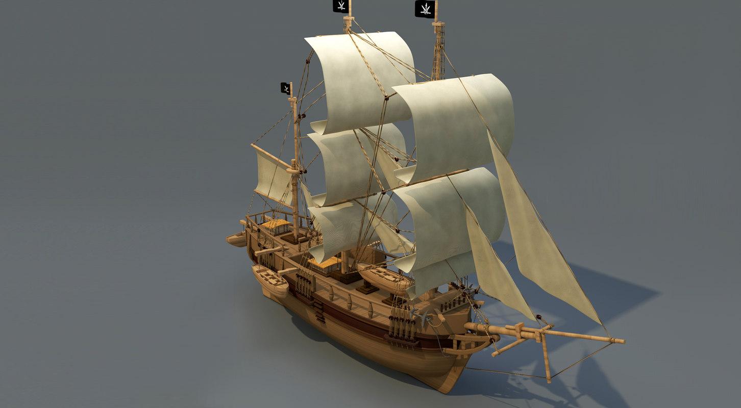 3d ship charles darwin model