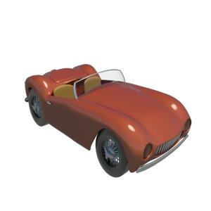 3d sports racing car
