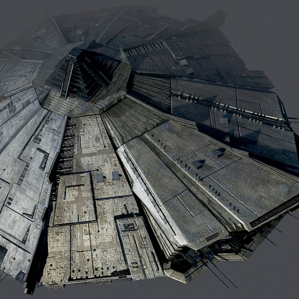 3d model spaceship space