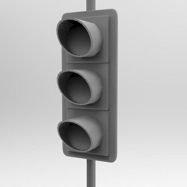 traffic signal sign 3d model