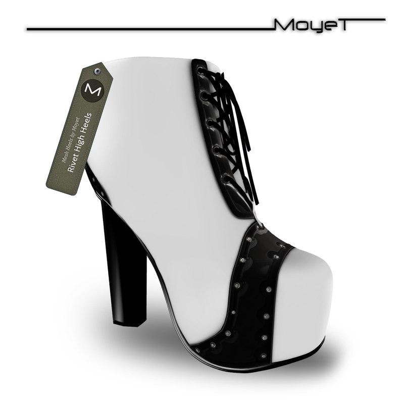 3d model rivet heels