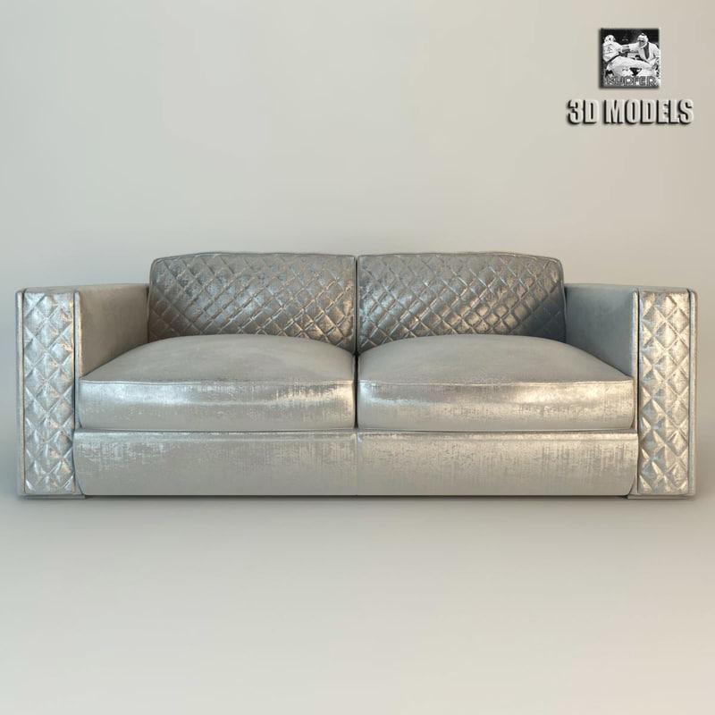 zanaboni capri sofa 3d obj