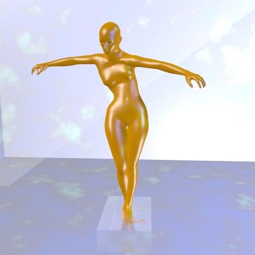 3d sculpture woman
