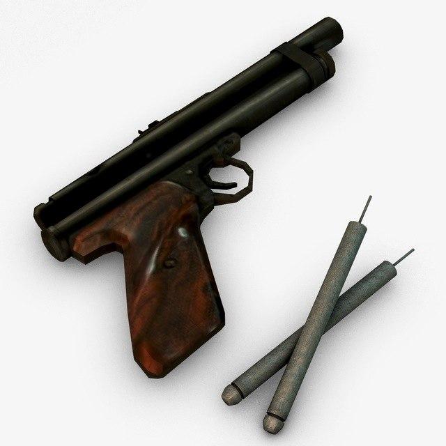 tranquilizer gun games 3d model