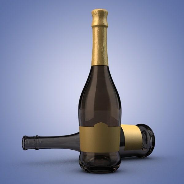 3ds champagne bottle