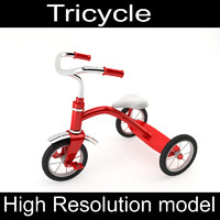 tricycle materials 3d obj