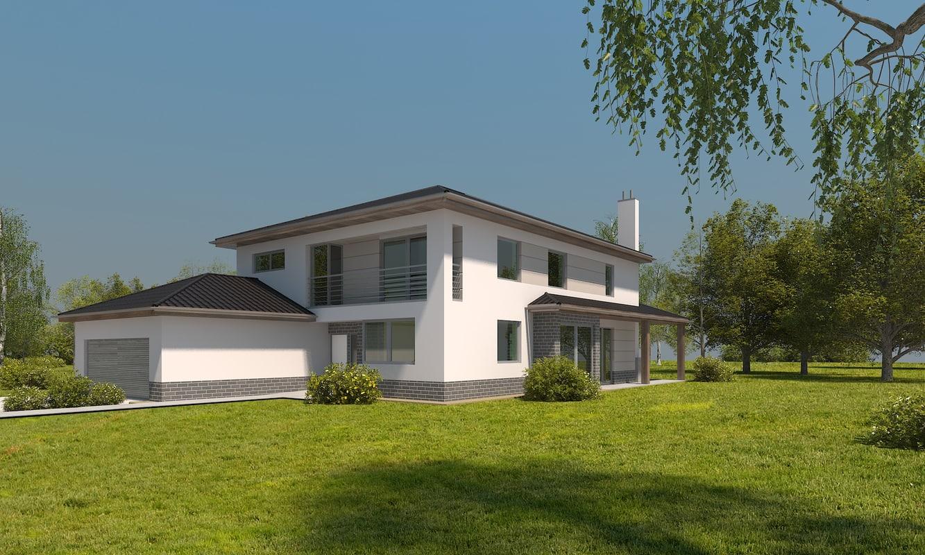 modern family house 3d ma
