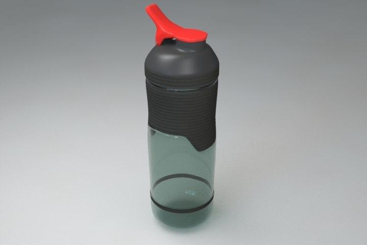 water bottle 3d lwo
