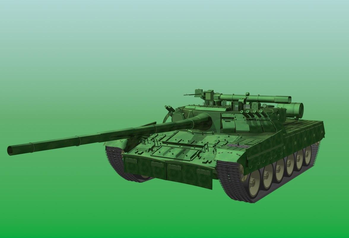 tank t-80ud 3d model