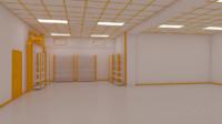 interior facility 3d model