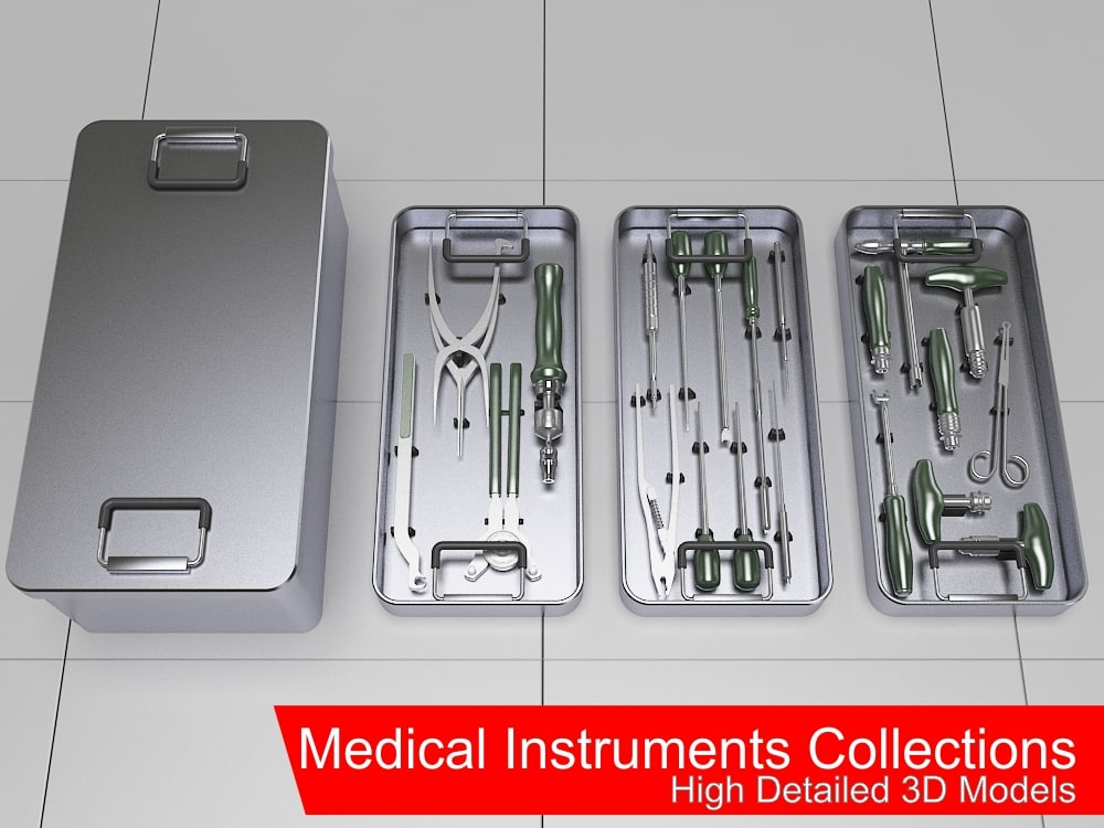 medical instruments collections 3d 3ds