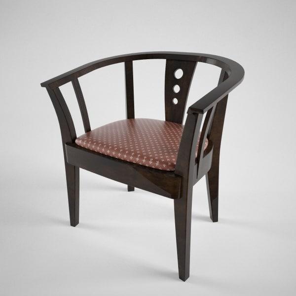 wood chair c4d