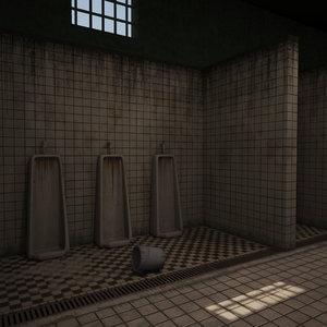3ds max bathroom prison bath