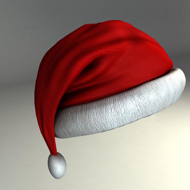 3d model santa hat