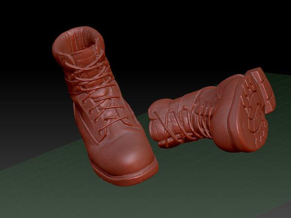 3d combat boots model