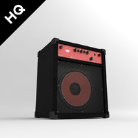 3d model of amplifier guitar
