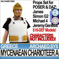 Props Set Poser Daz for Greek Mycenaean Charioteer A