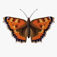 rative butterfly fg 3d obj