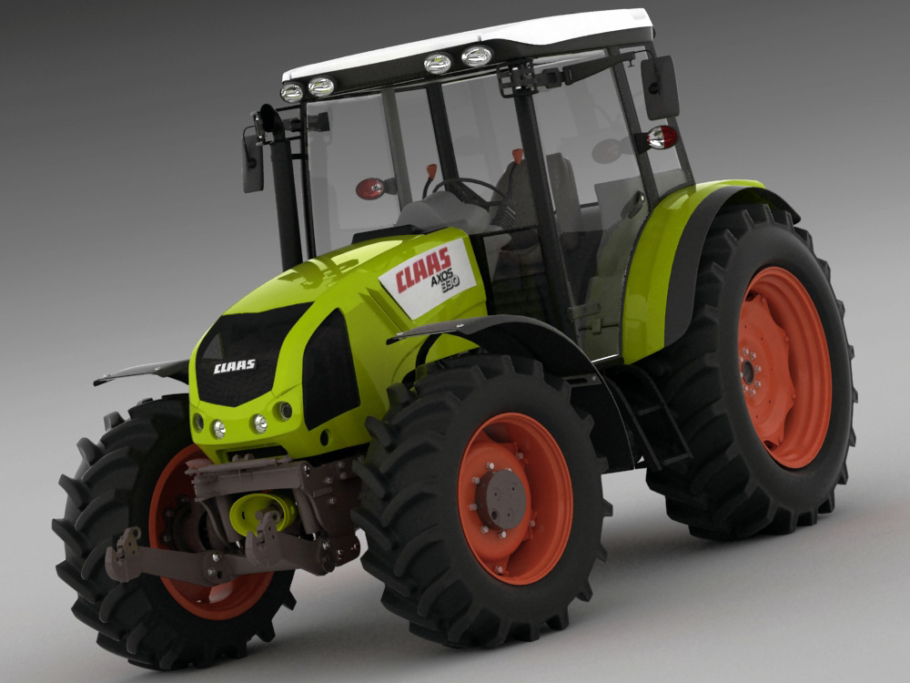 3d claas axos tractor model