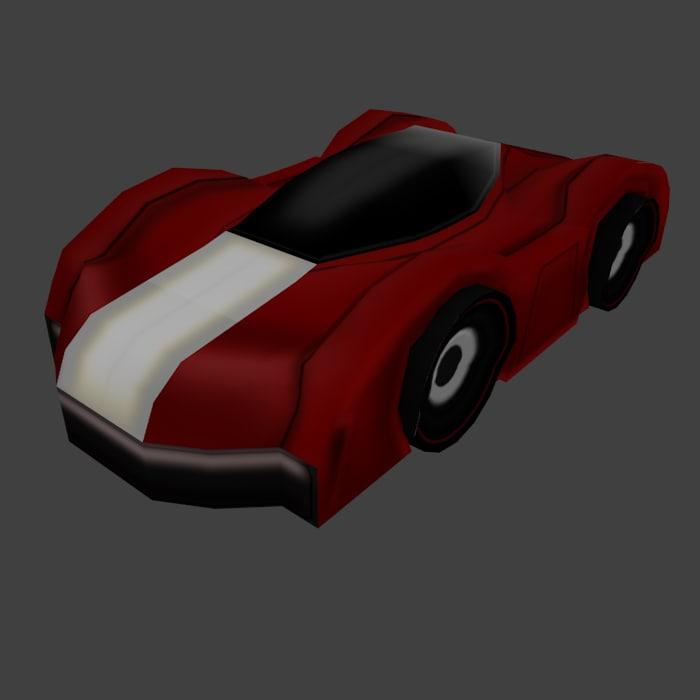 3d sci fi race car