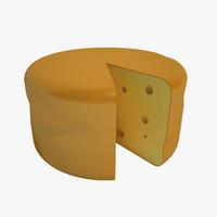3d cheese wheel model