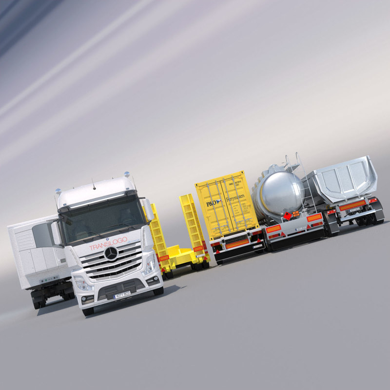 mercedes actros mp4 gigaspace 3d 3ds
