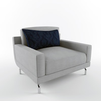 3d armchair chrome model