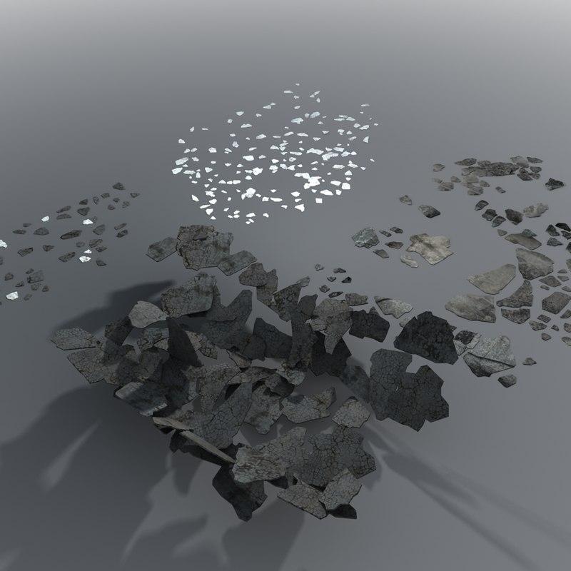 3d model rubble pile
