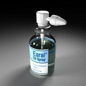 3d ear spray model
