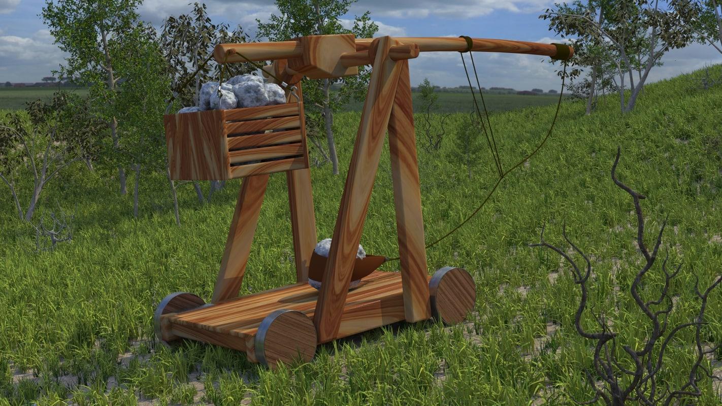 3ds max catapult trebuchet