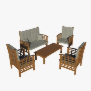 free max mode realistic garden furniture