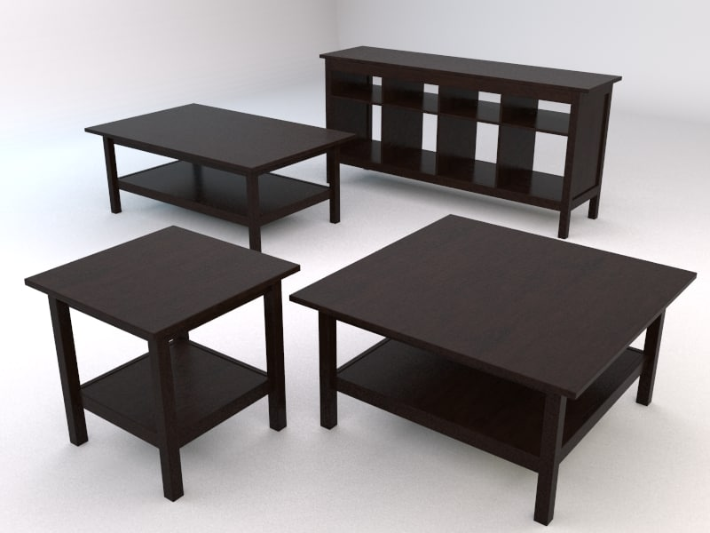 ikea hemnes livingroom tables 3d model. Black Bedroom Furniture Sets. Home Design Ideas