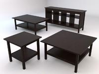 ikea hemnes livingroom tables 3d model