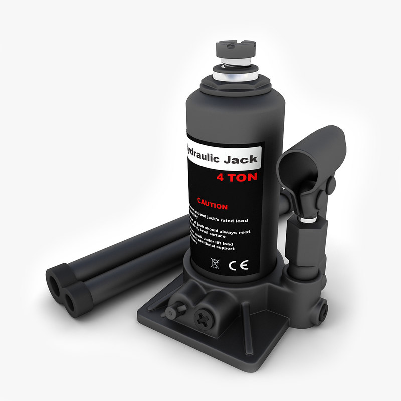3ds max hydraulic bottle jack