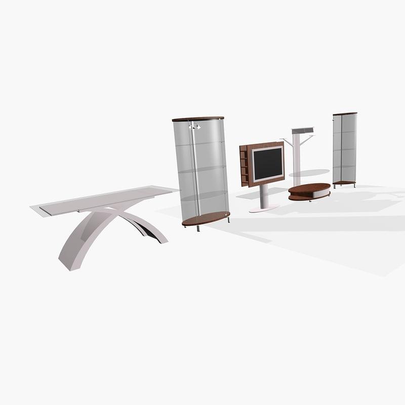 interior glass design 3d model