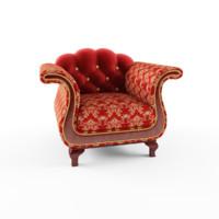 krug poltrona armchair 3d 3ds