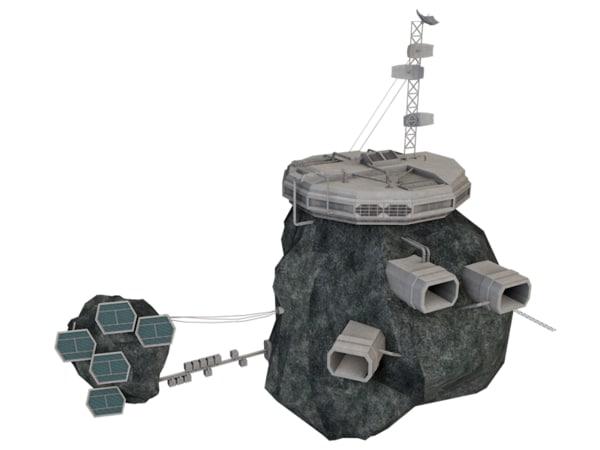 3d asteroid station model