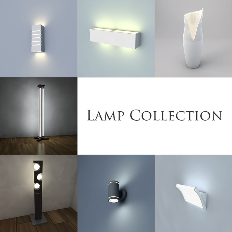 lamp wall modern 3d 3ds
