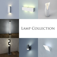 lamp wall modern 3d 3ds