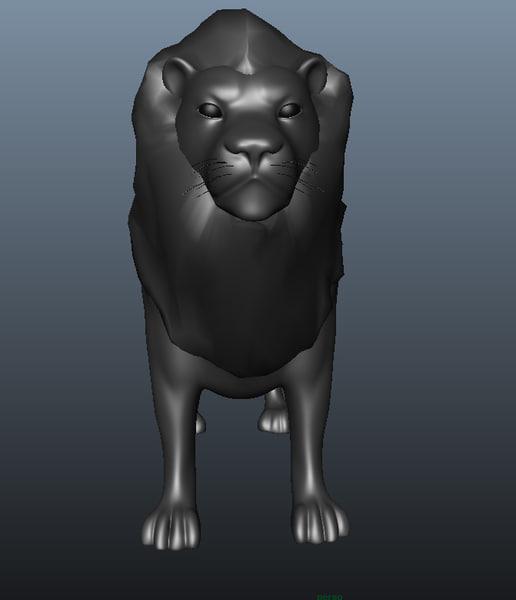 3dsmax lion animation