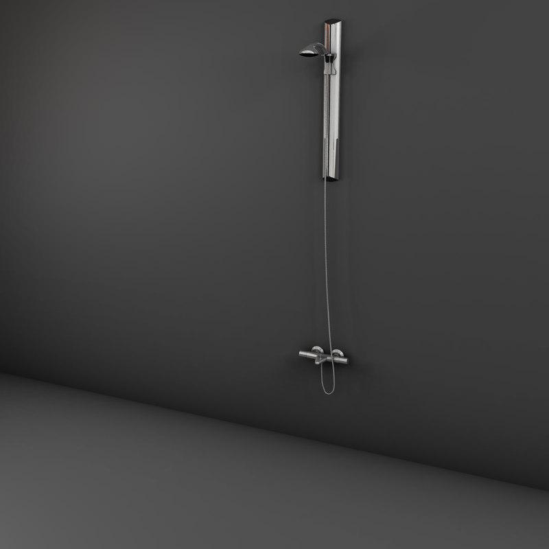 handle shower 3d model